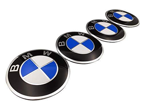 Myhonour Ersatz für Radmittelkappe Emblem Nabendeckel Aufkleber für BMW 4 Stück