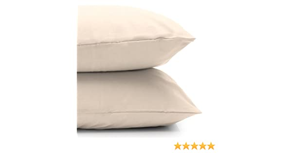 3ft Bolster Pillow Case 200tc polycotton Easy Care in Ivory
