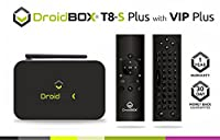 DroidBOX�?? T8-S Plus V2 with VIP Plus Air-Mouse w/ QWERTY Mini-Keyboard Android 6.0.1 Powered Mini Computer Amlogic Chipset S905 GPU Mali-450 2GB RAM 32GB ROM 4K UltraHD HDMI 2.0a [W.VIP Plus]