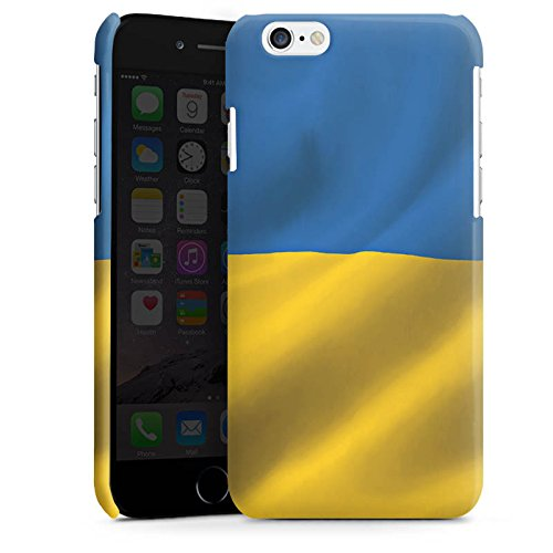 Apple iPhone 6 Housse Étui Silicone Coque Protection Ukraine Drapeau Drapeau Cas Premium brillant