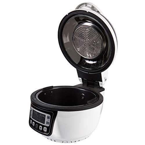 Heißluftfritteuse 6 in 1 schwarz | 1400 Watt, 10L Fassungsvolumen | Alternative zur Öl-Fritteuse | viel Zubehör & Rezeptheft | Turbo Heißluftofen