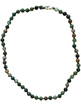 Wertvolles Halskettchen - grüner Jaspis und Sterling-Silber, Handgemacht - sehr schön für Jungs und Mädchen -...