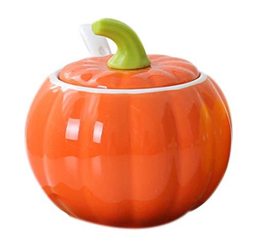 Koala Superstore Creativo in ceramica zucca forma condimento barattolo di olio cucina vaso agitatore, arancio