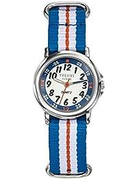 Trendy Kiddy - KL363 - Montre Garçon - Quartz Analogique - Cadran Multicolore - Bracelet Nylon Multicolore