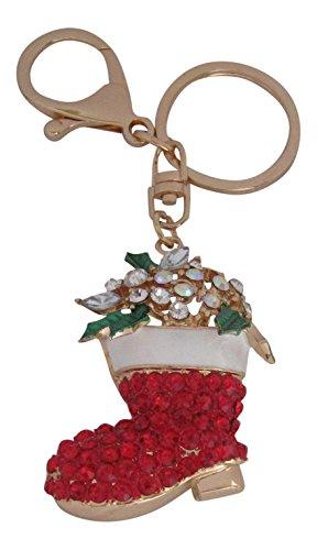 hristmas Stocking Bag Charm Keyring Keychain ()