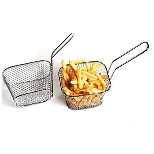 Onsinic 1Pc acciaio inox Chips Mini frittura cestello della friggitrice cucina Cooking Chef carrello Colander strumento French Fries carrello