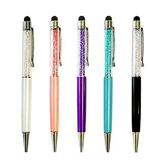 Alfort 5 Stück Universal Eingabestift Stylus Stift Touchstift Stylus Pen für Samsung, iPhone, iPad, Huawei und alle Tablets Smartphones, Farbe: Weiß Rosa Violett Hellblau Schwarz