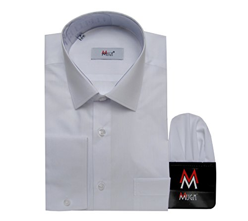 MUGA MMUGA Herrenhemd New Kent Kragen Weiß