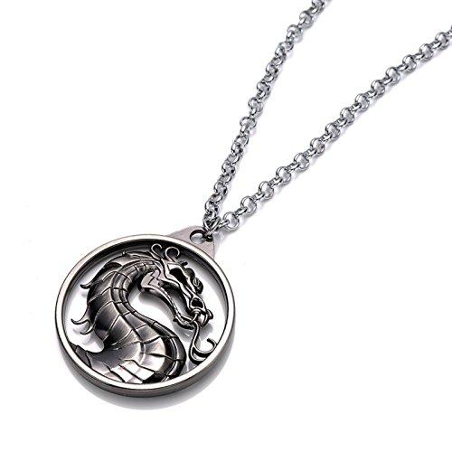 Beaux Bijoux Game of Thrones Targaryen-Halskette-Silberner Drachen-Anhänger-Lied von EIS und Feuer-in Geschenk-Box