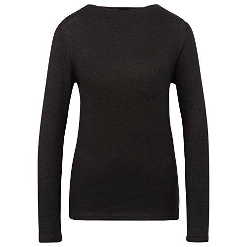Tom Tailor für Frauen T-Shirt Langarmshirt in Melange-Optik Black
