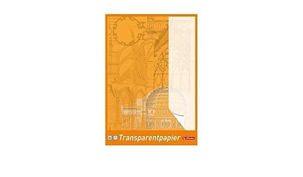 DIN A3 25 Blatt je Block Herlitz Transparentpapier