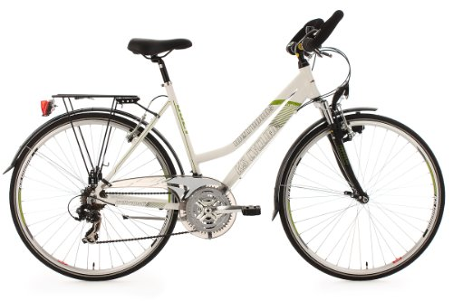 KS Cycling Damen Fahrrad Trekkingrad Alu-Rahmen Metropolis Multipositionslenker, Weiß, 28 Zoll, 132T