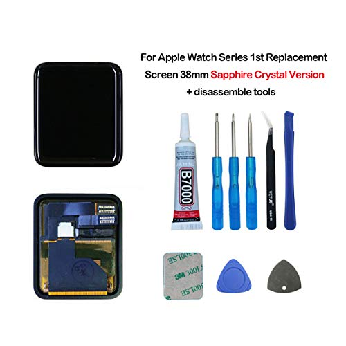 Series Lcd (swark LCD Display Compatible with Apple Watch Series 1 (1st Generation) Screen 38mm Sapphire Crystal Version LCD Screen and Digitizer Assembly + Tools)