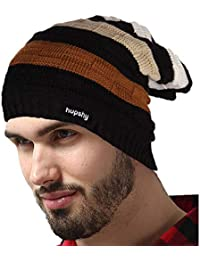 e2998bc5e13 Hupshy Men s and Women s Beanie Woollen Knitted Slouchy Skull Cap (Free  Size)