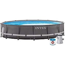 INTEX kit piscine Prism Frame ronde tubulaire 3m05 x 76cm