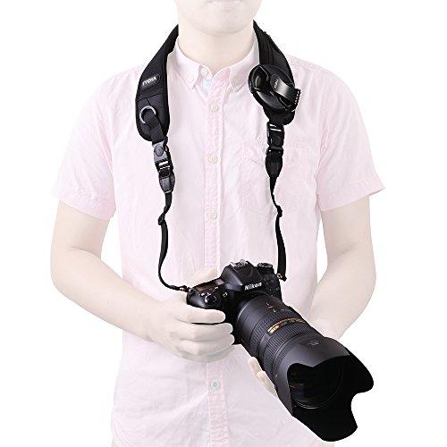 fernglas tragegurt Tycka Kamera Tragegurt mit Schlinge Kamera Nacken Hals Tragegurt , rutschfest, atmungsaktiver und ergonomischer Gurt, ausgestattet mit Schnellverschluss und Objektivdeckel-Tasche