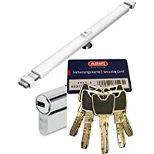 Abus Cruzado 2700W blanco, con xp20s Cilindro, con 5 llaves y tarjeta de Seguridad