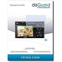 3 x disGuard Crystal Clear Lámina de protección para Samsung NX3300 / NX-3300 - ¡Protección de pantalla cristalina con recubrimiento duro! CALIDAD PREMIUM - Made in Germany