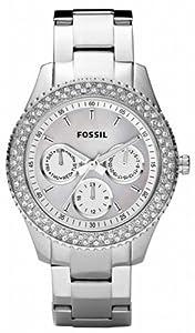 Reloj Fossil ES2860 de cuarzo para mujer con correa de acero inoxidable, color plateado de FOSSIL