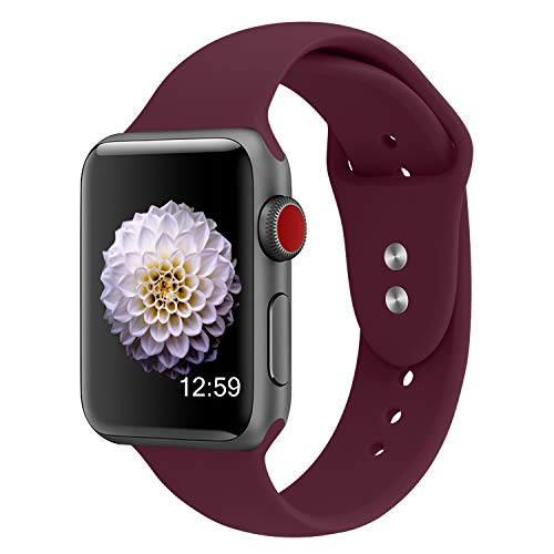 YOUKESI für Apple Watch Armband 38mm 40mm, Soft Silikon Sport Ersatz Uhrenarmbänder für iWatch Series 4/3/2/1,Nike+,Sport,Edition S/M