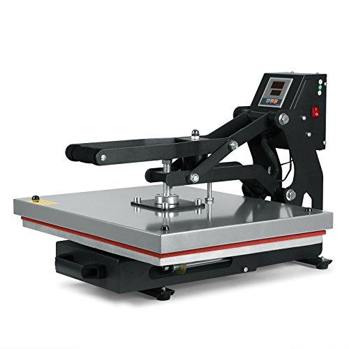 HPcutter Pressa di Calore Trasferimento Press Heat Press Machine 40 x 50 cm Apertura Automatico Clam Timer Digitale LCD Scivoli Via Design Rigido Telaio In Acciaio (40 x 50 cm