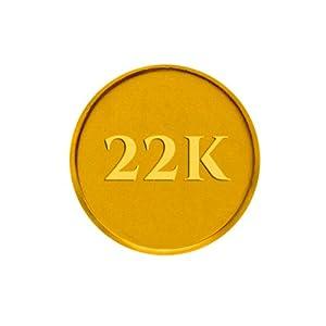 P.C. Chandra Jewellers BIS hallmarked 1 gm 22KT (916) Yellow Gold Coin