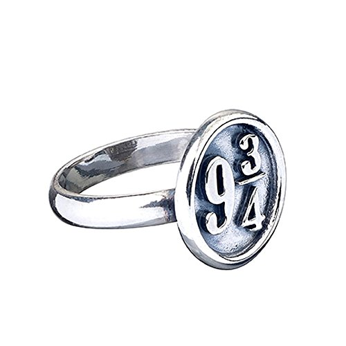 Ufficiale Harry Potter Argento Sterling Platform 93/4Misura anello Medium