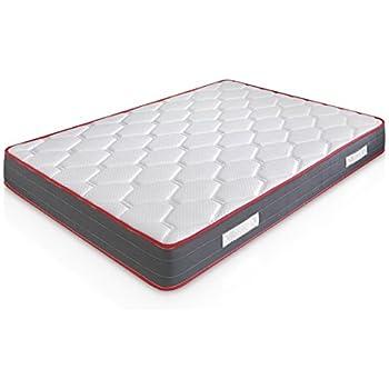 Matelas Ergo-Therapy 90X190 à mémoire de forme | 18 cm Épaisseur | 2 cm de mousse à mémoire de forme de 65 kg/m3 | Foam AirSistem | Extrêmement durable | Certification ISO 9001®