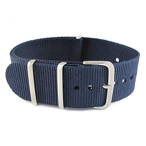 Armee Sport Stoff Nylon Uhrenarmband 18 Genitalsit-Watchstrap-Lins221 20 22 mm Schwarz Blau Schnalle Uhrenarmbänder Gürtel Canvas Für Männer