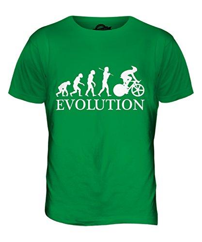 CandyMix Ciclismo Evoluzione Umana T-Shirt da Uomo Maglietta Verde