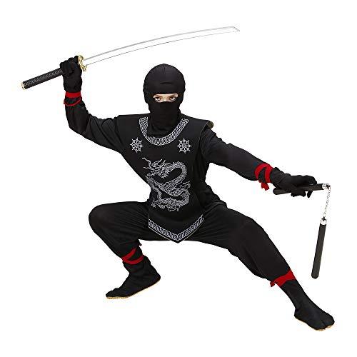 WIDMANN 74528 - Kinder Kostüm Black Ninja, Anzug und Maske, Größe 158