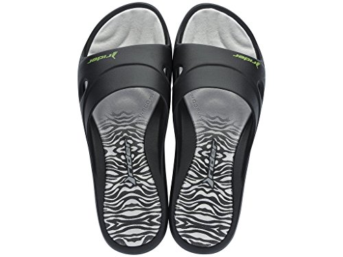 Damen Badeschuhe Rider Slide Feet VI 81676 schwarz-grau (20832)