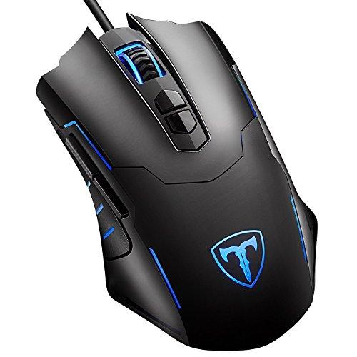 Gaming Maus, VicTsing 7200DPI USB Wired Gaming Mäuse LED Ergonomische Programmierbare Gamer Maus mit 5 Einstellbare DPI, 7 Tasten für PC Pro Gamer Spieler, Windows XP/Visa/7/8/10