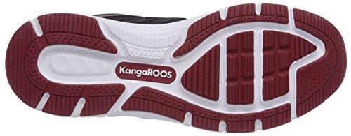 KangaROOS K-tech 8007, Baskets Basses mixte adulte Noir (Black/Dk Red 506 A)