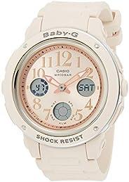Casio Womens Quartz Watch, Analog-Digital Display and Resin Strap - BGA-150CP-4BDR