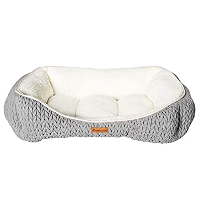 AllPetSolutions Charlie Beds Range - Chunky Knit Design Soft Warm Grey Dog Bed by All Pet Solutions