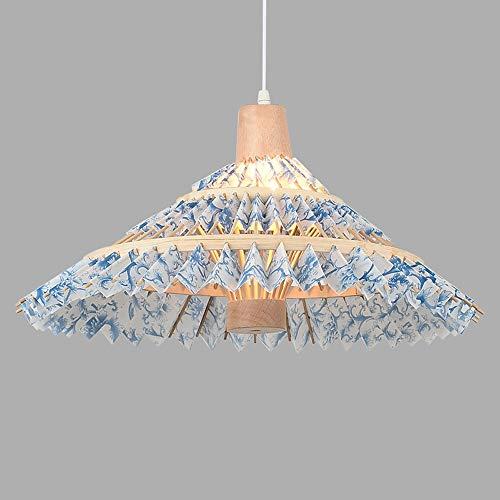 Wenkaili ombrello a forma di bambù lampadario cinese creativo rattan hanging lamp sud-est asiatico stile comodino illuminazione adatto for alberghi, ristoranti, alberghi, club, ecc (color : b)
