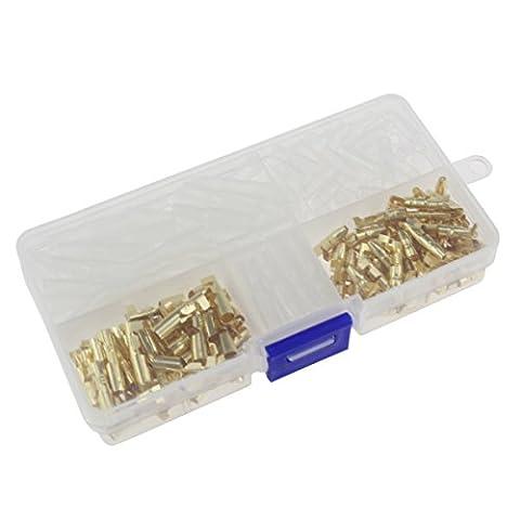 Paor Laiton Bullet kit 3,9mm connecteur terminal mâle et femelle avec isolée couvertures 240pcs