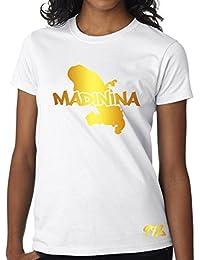 T-shirt Femme Martinique 972 Madinina Blanc et Or Métallisé