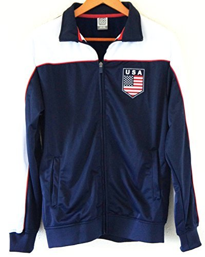 Soccer Team USA Adult Fashion Soccer Track Jacket NAVY by Soccer Fashion Jersey -