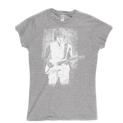Jeff Beck 2 Womens Fitted T-Shirt Aschgrau