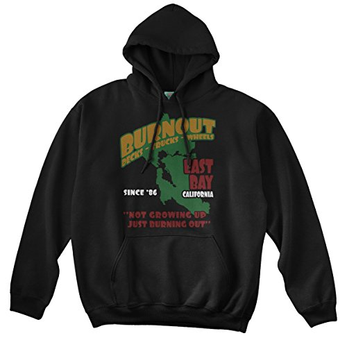 BathroomWall T-shirts Green Day Inspired Burnout, Hoodie, XX Large, Schwarz Burnout Hoodie