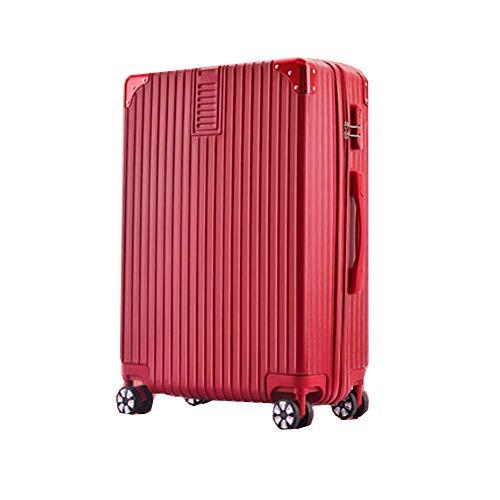 Gepäckstück Hartschalen-Reise-Trolley-Koffer Student Passwortbox Universalrad 4 Twin Spinner Wheels Blue-24inch-red