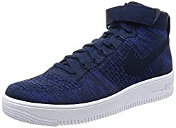 Nike AF1 ULTRA FLYKNIT MID mens basketball-shoes 817420-401_9. 5 - COLLEGE NAVY/COLLEGE NAVY-BLACK-WHITE