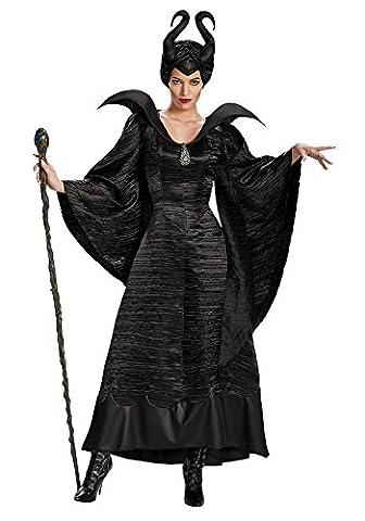 Damen-Kostüm Maleficent schwarz Böse Fee Stiefmutter Königin, Größe:L (Kostüm Für Halloween Bilder)