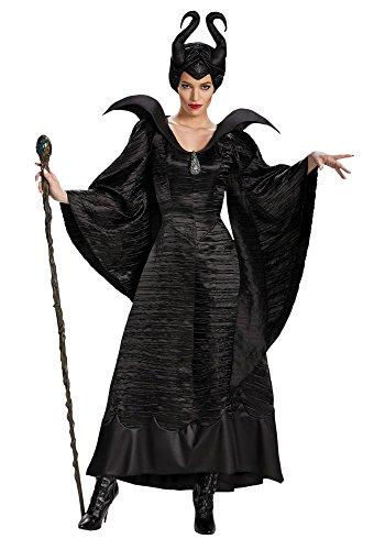 Damen-Kostüm Maleficent schwarz Böse Fee Stiefmutter Königin, Größe:L (- Stoff Maleficent)