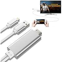 AMANKA Lightning a HDMI Adaptador de Cable, 2 Metros Lightning AV Digital a HDMI 1080P Compatible con iPhone, iPad e iPod