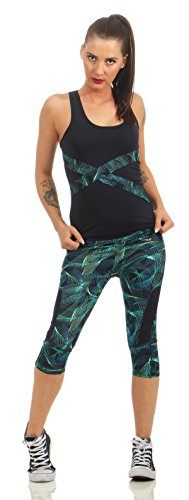 Matyfashion Damen Fitness 2-Teiler Pants Yoga Leggings Sport-Freizeit Hose Top BF 21 (L/XL)