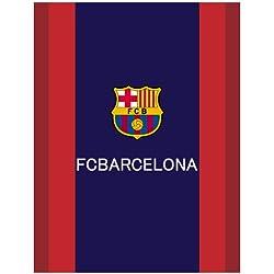 FC Barcelona Manta Polar Microfibra Negro 130x 170cm fcb03de es