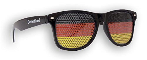 Promo Trade 12 x Fanbrille Deutschland - Schwarz - Sonnenbrille - Brille Germany - Schwarz Rot Gold - Fan Artikel